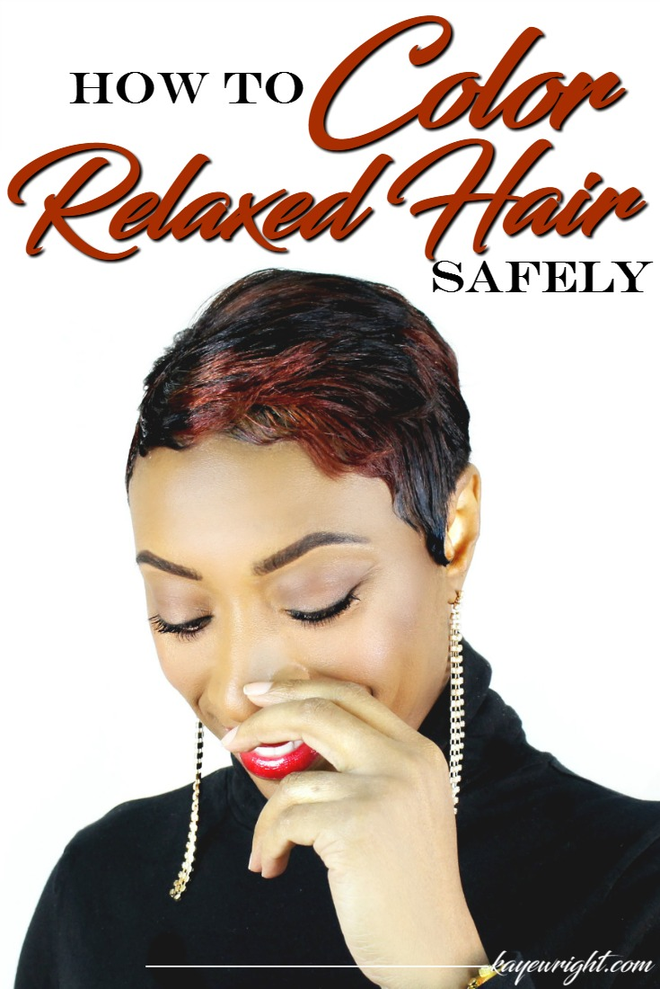 color relaxed hair