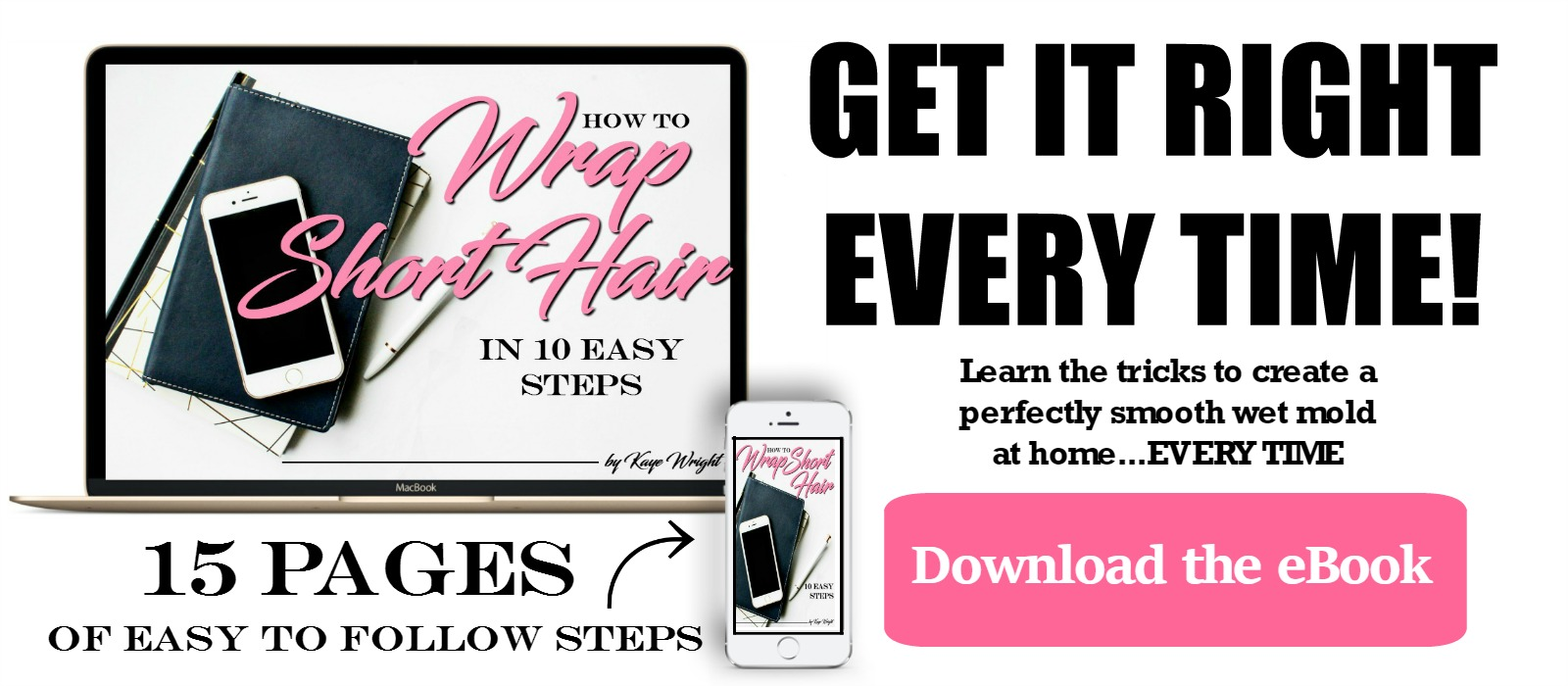 how to wrap short hair ebook