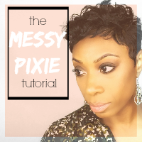 The Messy Pixie – Short Relaxed Hair Tutorial