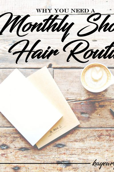 Why You Need a Monthly Short Hair Routine | November 2, 2016